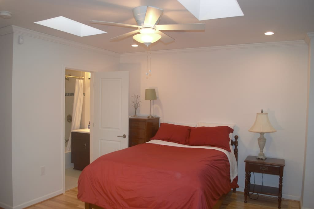 Private Bedroom with Double bed and dresser