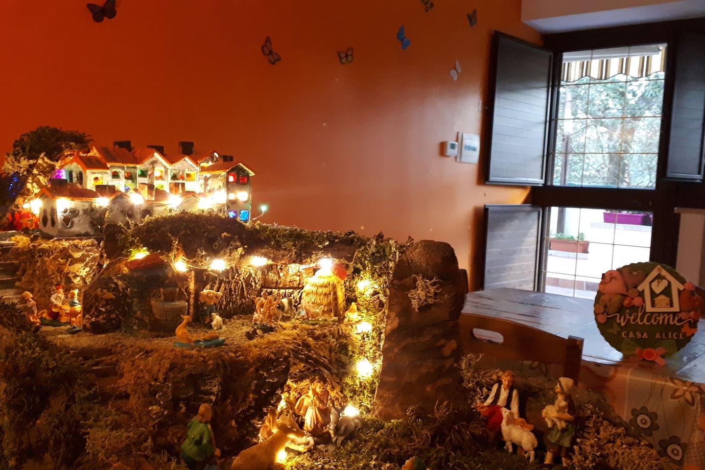 Natale 2019 a Casa Alice Bolsena, presepe artigianale ideato e costruito da mio marito Tonino :)