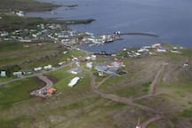 Djúpivogur seen from above. A small fishing village.