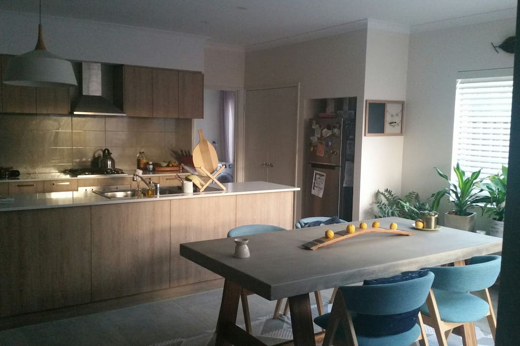 Shared kitchen and dining