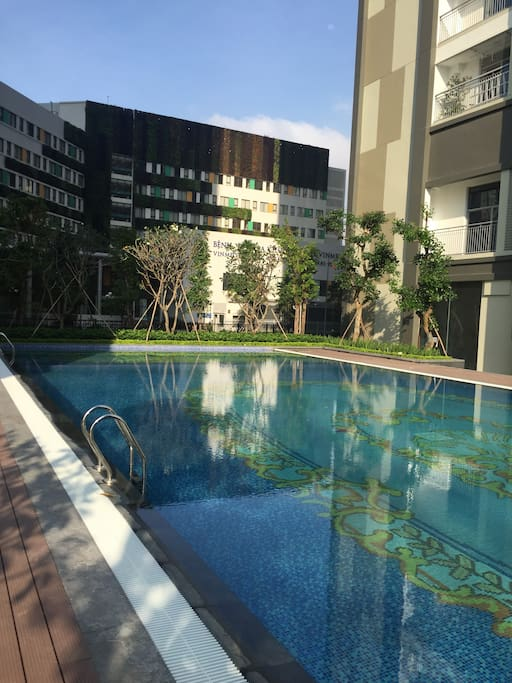 The most beautiful pool in the Vinhomes Central Park residence
