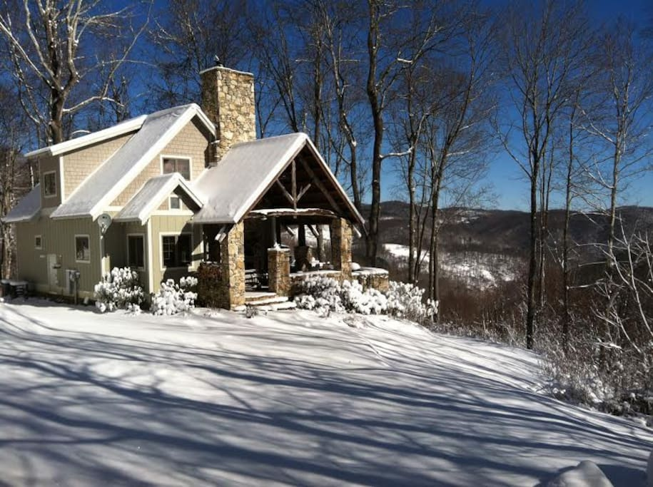 Winter Wonderland. cozy up to a woodburning Rumford fireplace or warm up in a bubbly hot tub under a blanket of stars.