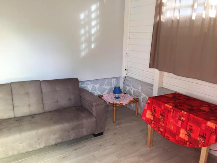 Studio in Trois Rivieres, with wonderful mountain view and furnished garden - 3 km from the beach
