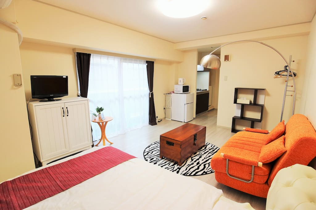 TV・SOFABED/1doublebed