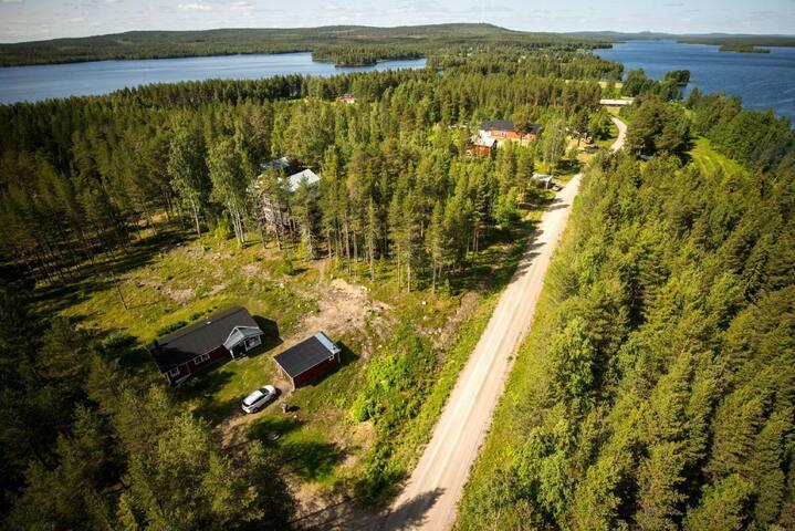 Ferienhaus Lappland am See mit Sauna