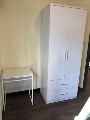 Wardrobe and working in one of the room