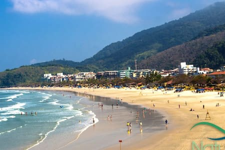 Apto com ar condicionado / Praia Tenório - Ubatuba