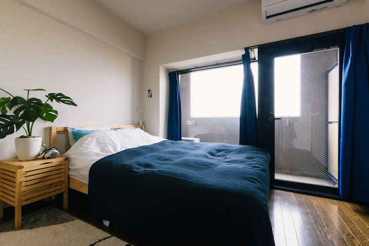 2mins walk to subway+free wifi!!! - 福岡市(Fukuoka-shi) - 公寓