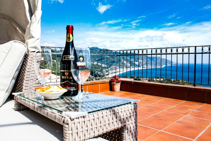 Casa Morgetia with sea view