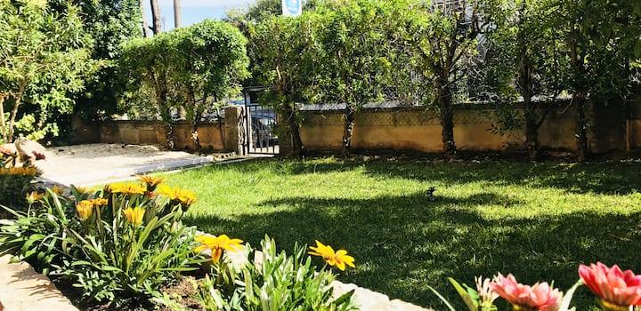 Villa with Garden Near the Beach and Center