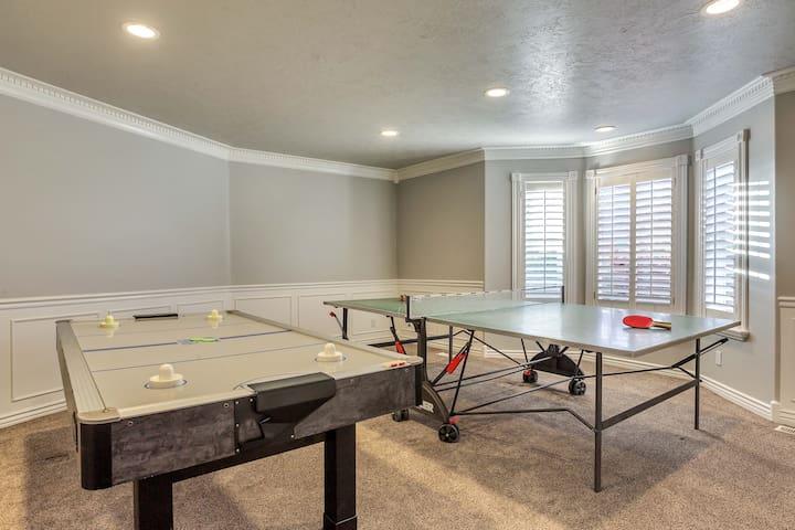 Air hockey and Ping pong!