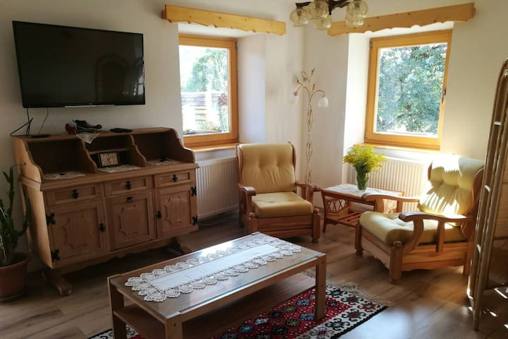 Newly refurbished apartment in old farm house