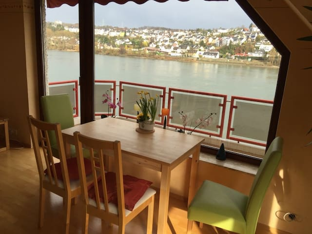 Homely apartment with view to rhine - Koblenz - Lägenhet