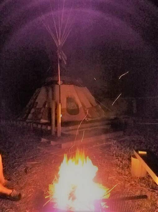 Enjoy a private campfire