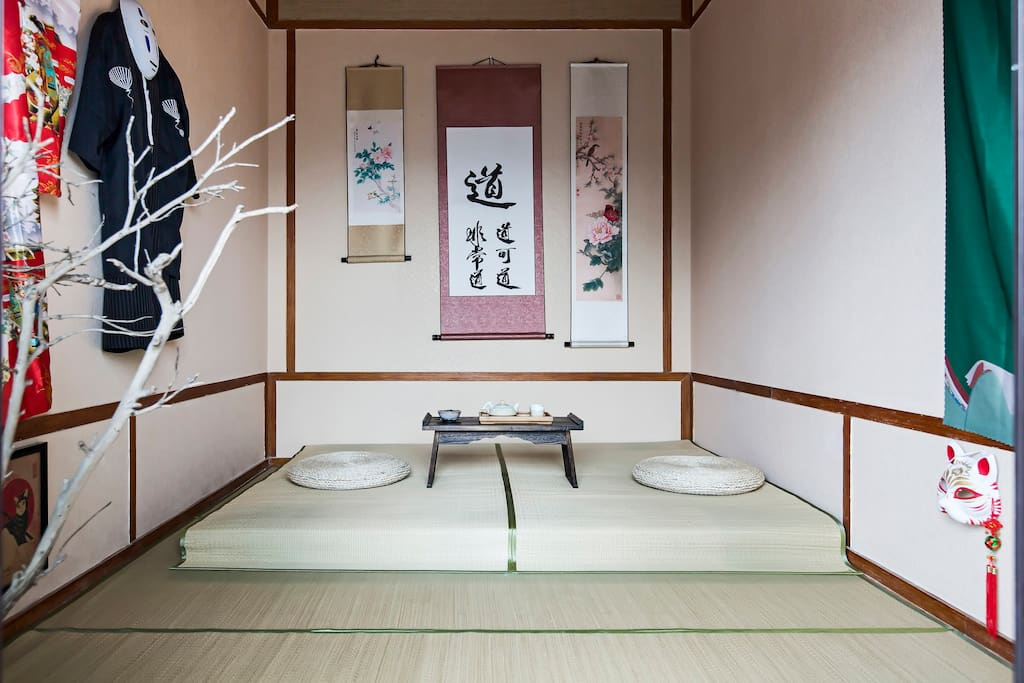 Japanese traditional room bed and breakfasts for rent in for Bed and breakfast tokyo