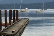 The boat launch dock only a 1 minute walk from the suite. Come and enjoy!