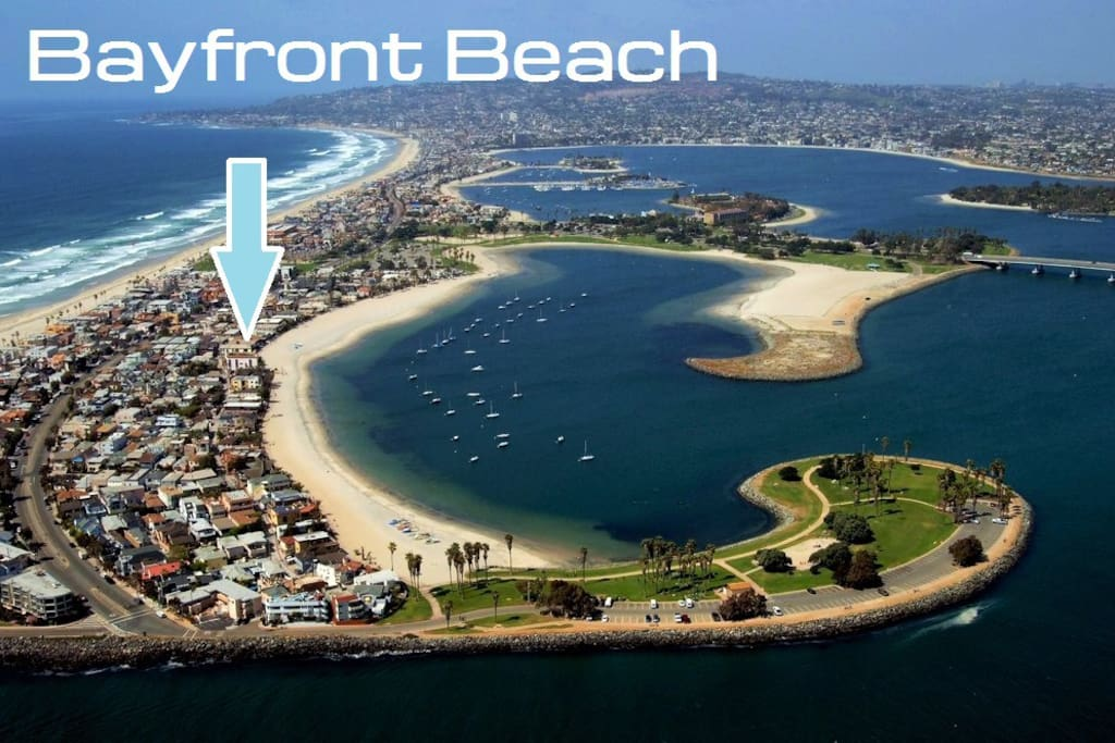 Wonderful location on Mission Bay across the strand from Mission Beach