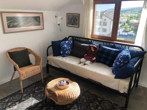 Blue panorama apartment in touristic Razlog
