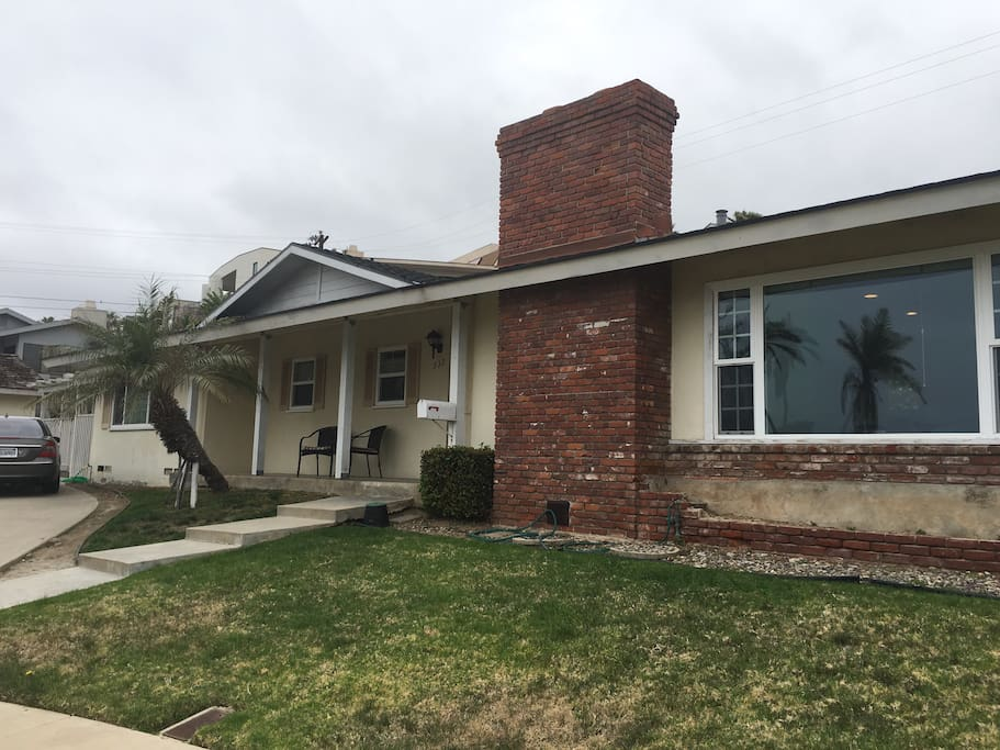 This 1950's era charming one-story house has been re-done inside.  There are four bedrooms and three baths. With our open floor plan in the living area, this is the perfect gathering place for families