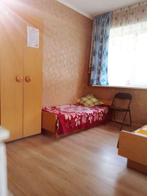 Trijų lovų kambarys