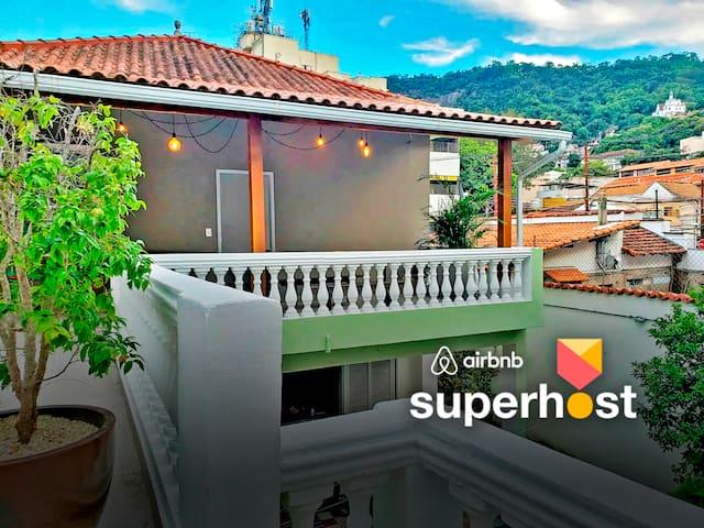 Suíte Independente + Varandão  em SantaTeresa ⛰☕❤️