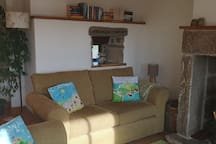 Two large comfortable sofas mean there is ample seating for four.