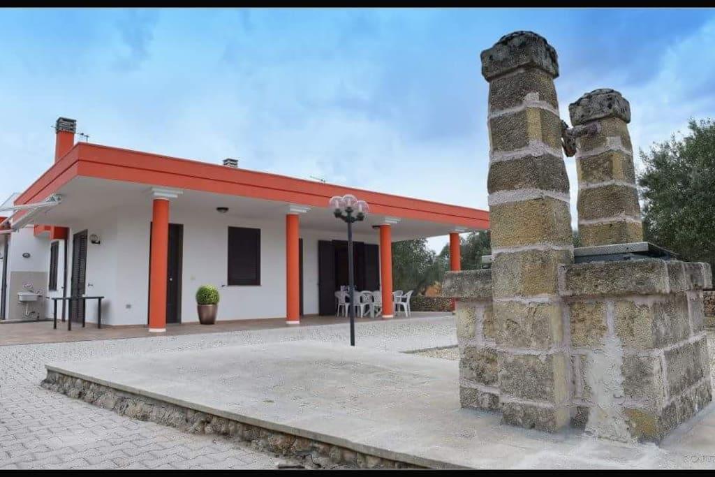 La villa con sopra 200 mq di terrazzo