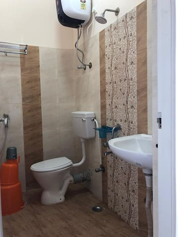 Bathroom with Heated water