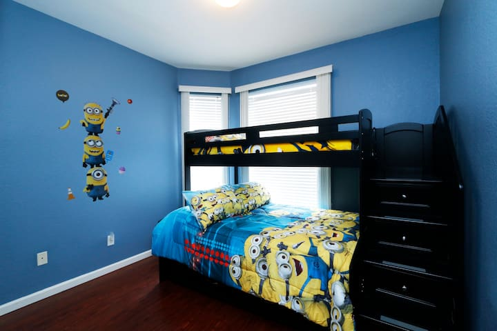 Fun-filled Kids Bedroom with Twin-Over-Full Bunk Bed