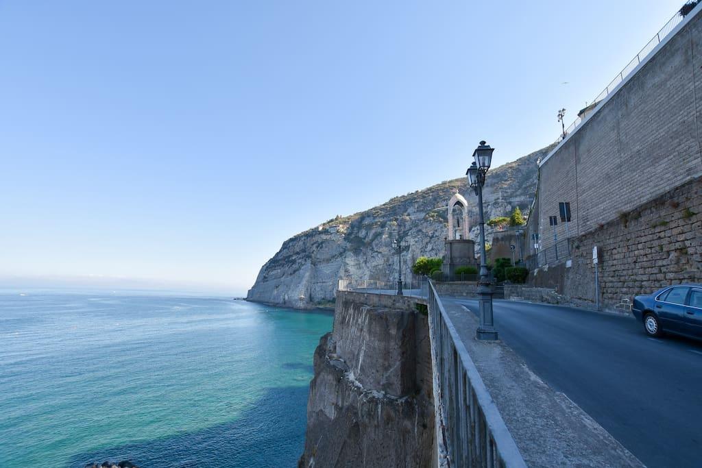 The sea of Meta di Sorrento