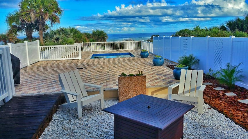 """Beachway Breeze"" 5bd/4bth Oceanfront home with pool, perfect for groups in NSB"