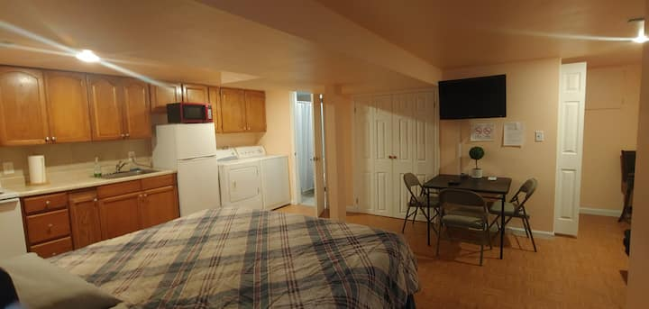Private Studio in basement fully furnished