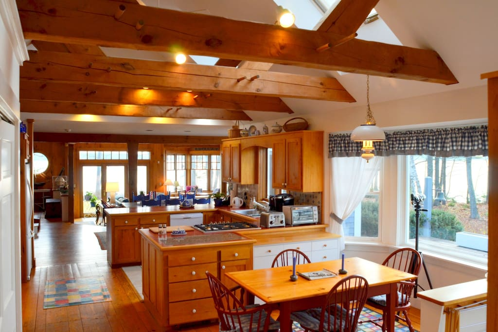 Large, open kitchen is perfect for entertaining.