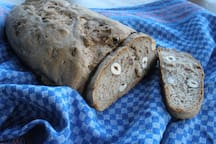 We may spoil you by our homemade nut bread