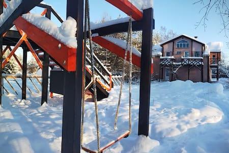 Peterhof village.