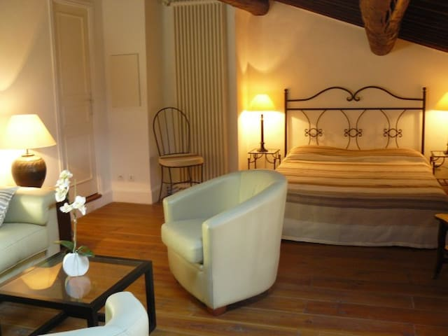 Chambre Famille Romarin vignoble - Ollières
