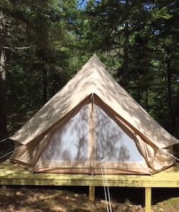 Luxury Glamping Bell Tent at Wild Grace Farm
