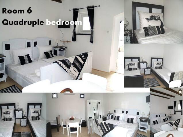 Pannonia Terranova B&B, Quadruple bedroom