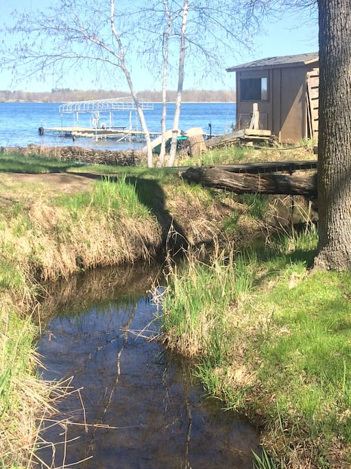 Creek runs through the property