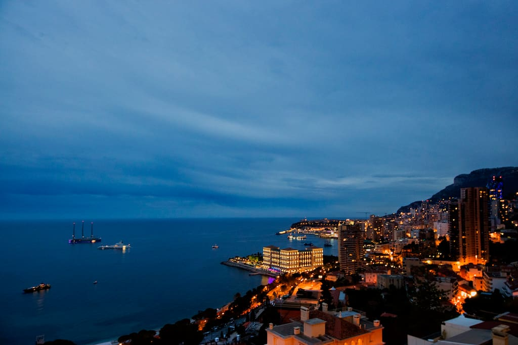 Enjoy stunning views of Monaco and the Mediterranean Sea by day and night