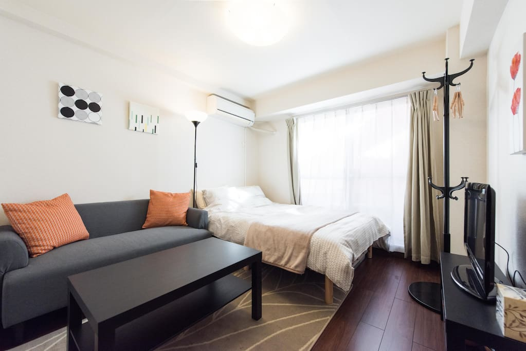 Cozy studio apartment with plenty of sunlight and comfy bed!