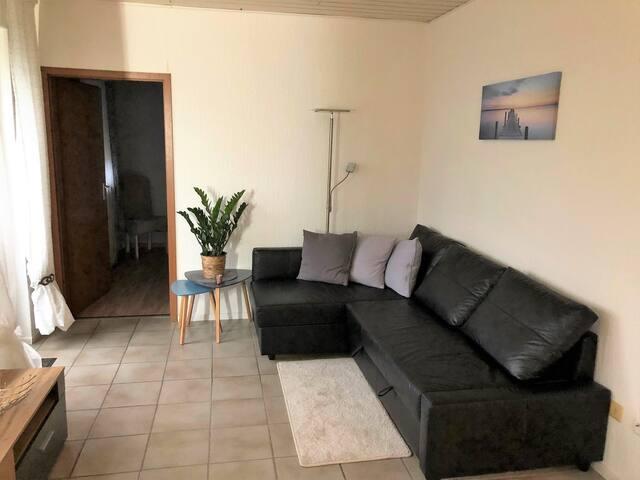 Gemütliches Sofa mit ausziehbarem Bett