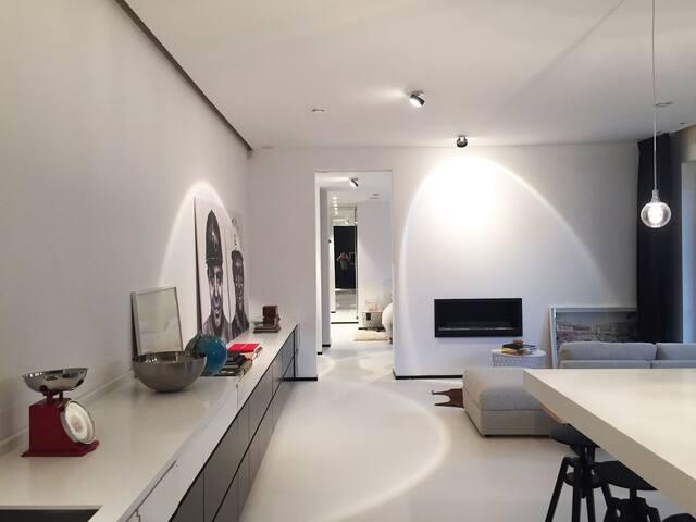 Bright and spacious design loft in hip Antwerp