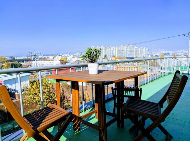 Tea table on Balcony