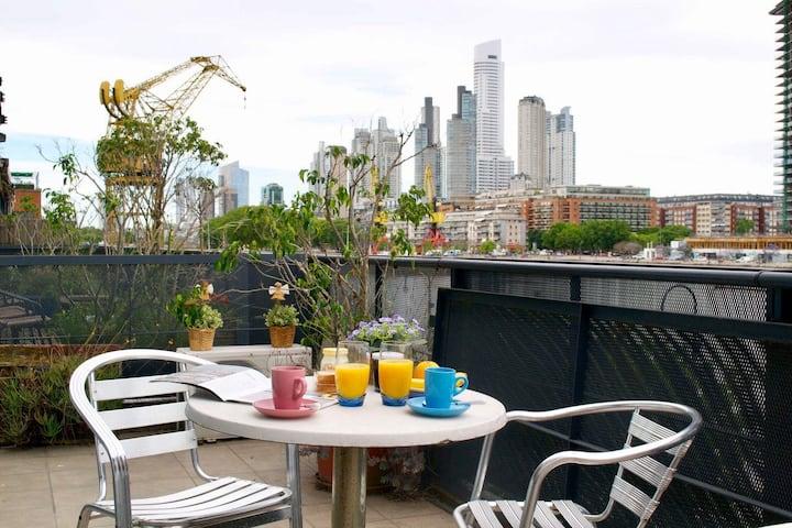 Exclusivo departamento de 120 m2 con vista al rio y parking gratuito