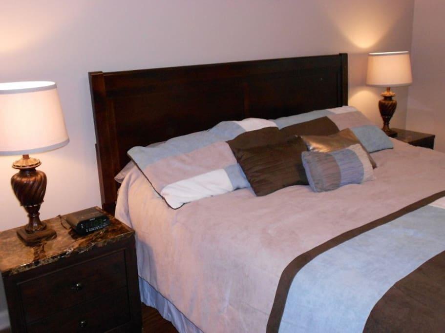 Tempur-Pedic King Bedding available as an Upgrade