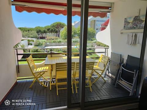 Appart : piscine+wifi+parking, 200 m de la plage