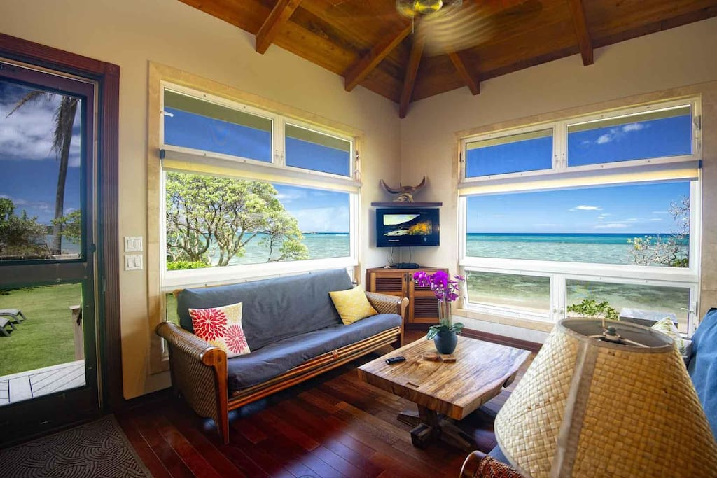 Directly on the beachfront home.