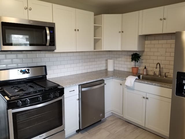 Brand new kitchen with gas stove