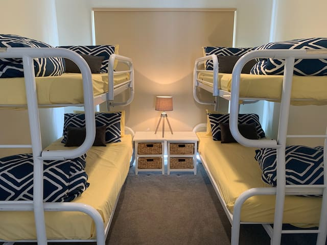 Third bedroom- sleeps 4- also has a built in robe.